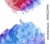 illustration of watercolor spots | Shutterstock . vector #444522994