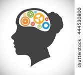 think concept with icon design  ... | Shutterstock .eps vector #444530800