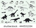 funny dinosaurs graphic vector... | Shutterstock .eps vector #444531334