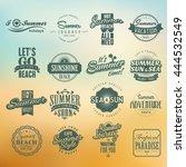 set of vector design elements... | Shutterstock .eps vector #444532549
