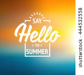 summer vector illustration... | Shutterstock .eps vector #444532558