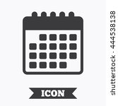 calendar icon. event reminder... | Shutterstock .eps vector #444538138