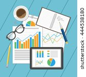 business analytic concept.... | Shutterstock .eps vector #444538180