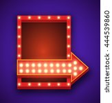 realistic 3d light background.... | Shutterstock . vector #444539860