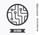 circuit board sign icon.... | Shutterstock .eps vector #444541888