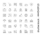thin line icons set. flat...   Shutterstock .eps vector #444543913