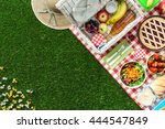picnic at the park on the grass ...