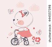 bear hand drawn vector... | Shutterstock .eps vector #444557398