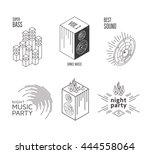 music set label or design... | Shutterstock .eps vector #444558064