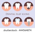 dental flat vector icons for... | Shutterstock .eps vector #444564874