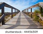 Wooden Bridge Over Dunes...