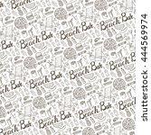 summer.beach bar menu.hand... | Shutterstock .eps vector #444569974