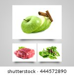 Green Apple Sliced. Healthy...