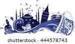 istanbul vector silhouette ... | Shutterstock .eps vector #444578743