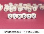 random word written on wood... | Shutterstock . vector #444582583