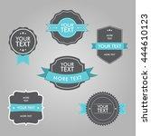 set of vintage tags vector... | Shutterstock .eps vector #444610123