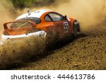 cars on the autocross. racing... | Shutterstock . vector #444613786