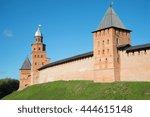 towers of the medieval kremlin... | Shutterstock . vector #444615148