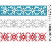 norway traditional ornament.... | Shutterstock .eps vector #444617140