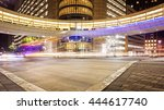 busy intersection in downtown... | Shutterstock . vector #444617740