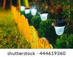 decorative small solar garden... | Shutterstock . vector #444619360
