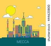 mecca skyline landmark city... | Shutterstock .eps vector #444620800