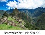 machu picchu  a unesco world... | Shutterstock . vector #444630700