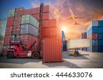 business logistic concept ... | Shutterstock . vector #444633076