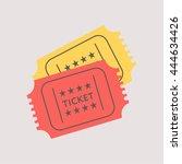 ticket icon set illustration... | Shutterstock .eps vector #444634426