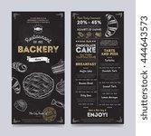 bakery menu design and bakery... | Shutterstock .eps vector #444643573