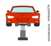 car  mechanic  lift icon vector ...   Shutterstock .eps vector #444644374