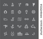 travel destination icon vectors ...