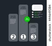 modern design chart template in ... | Shutterstock .eps vector #444649384