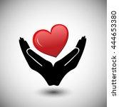 concept of donate organ  heart... | Shutterstock .eps vector #444653380