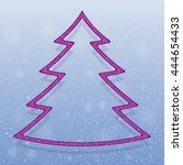 falling snow vector. winter... | Shutterstock .eps vector #444654433