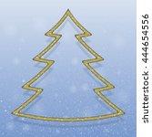 falling snow vector. winter... | Shutterstock .eps vector #444654556