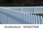 white picket fence | Shutterstock . vector #444657568