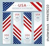 presidential election banner... | Shutterstock .eps vector #444658210