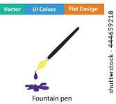 fountain pen with blot icon....