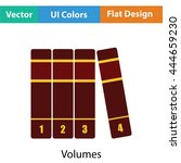 books volumes icon. flat color...