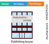 publishing house icon. flat...