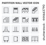 vector icon of partition wall... | Shutterstock .eps vector #444663790