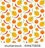 pepper. abstract pattern with... | Shutterstock .eps vector #444670858