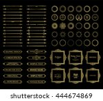 vintage set exclusive borders... | Shutterstock .eps vector #444674869