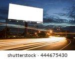 billboard blank for outdoor... | Shutterstock . vector #444675430