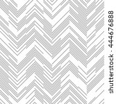 seamless chaotic zigzag pattern.... | Shutterstock .eps vector #444676888