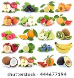 fruits fruit collection orange... | Shutterstock . vector #444677194