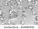 3d rendering luxury diamonds on ... | Shutterstock . vector #444680200
