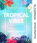 bright hawaiian design with... | Shutterstock .eps vector #444685276
