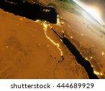 egypt with surrounding region... | Shutterstock . vector #444689929